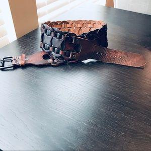 Accessories - Chunky Dark Brown Leather Belt